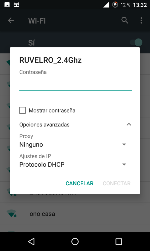 Conectar a una red Wi-Fi en Android