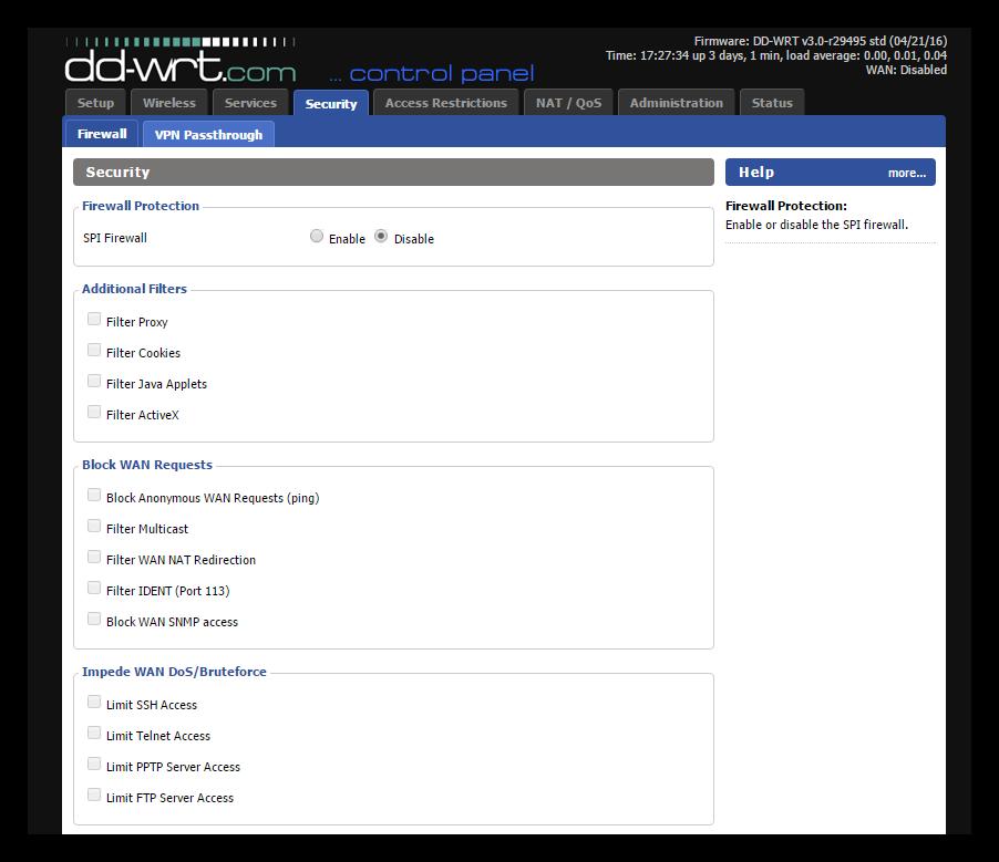 DD-WRT - Configurar Firewall