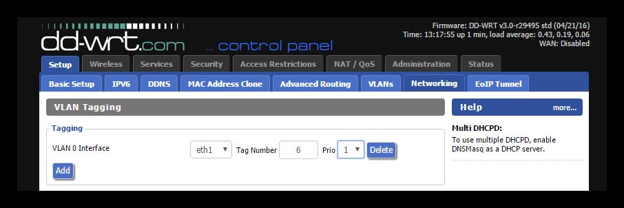 DD-WRT - Configurar VLAN
