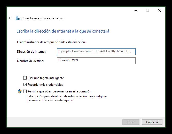 Datos servidor VPN