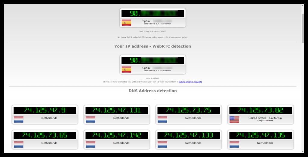 IPLeak resultados