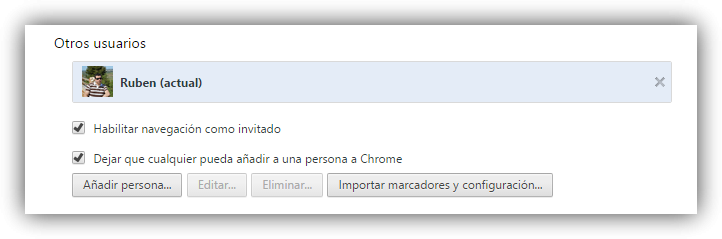 Perfiles Google Chrome