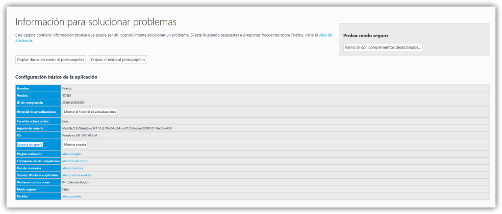Solucionar problemas Mozilla Firefox