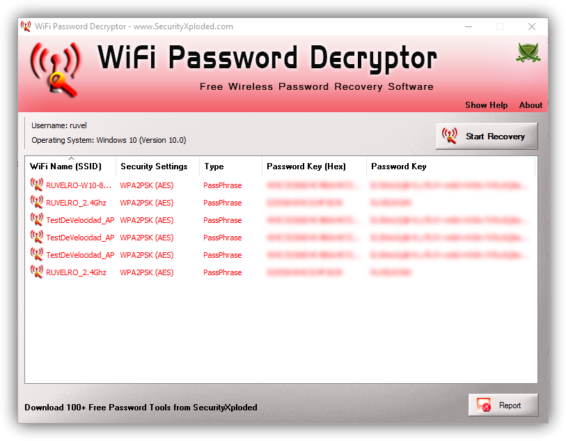 WiFi Password Decryptor - Claves Wi-Fi