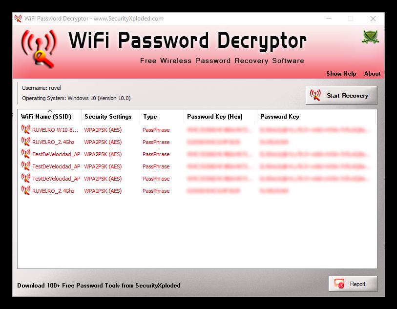WiFi Password Decryptor - Claves Wi-Fi