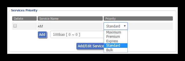 QoS - Prioridad de servicio