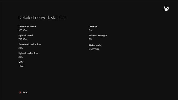 Estado conexión Xbox One