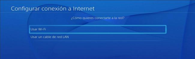 PS4 conectar por cable o Wi-Fi
