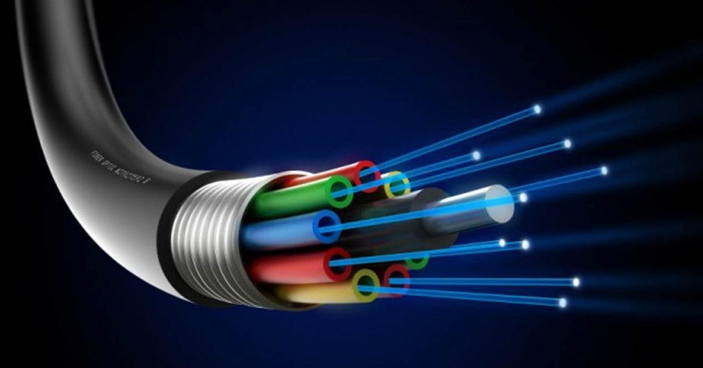 fibra óptica indirecta