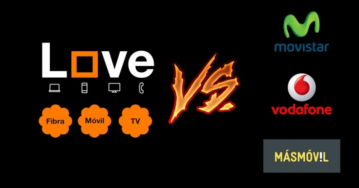 Orange Love vs Movistar Fusión vs Vodafone One vs MásMóvil (noviembre 2016)