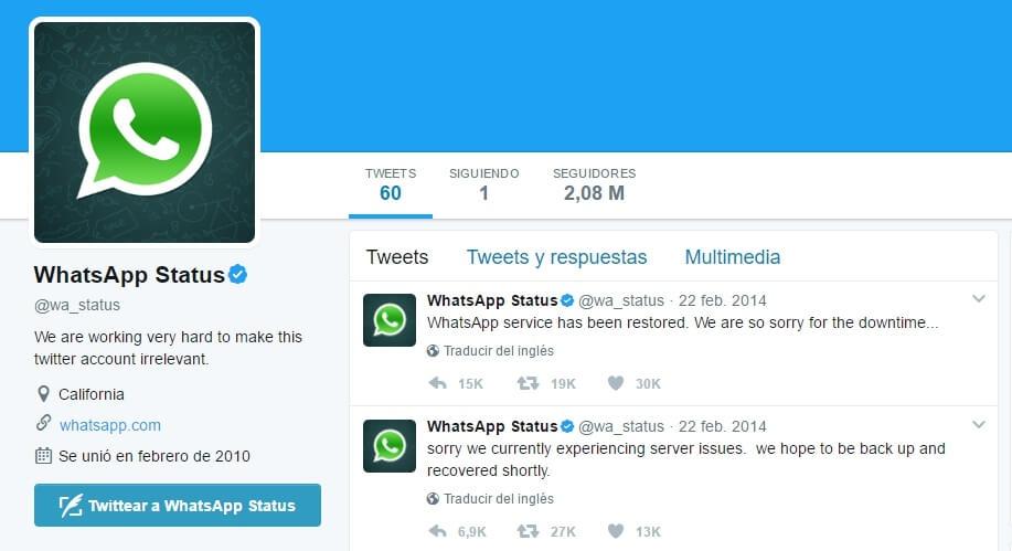WhatsApp no funciona wa_status