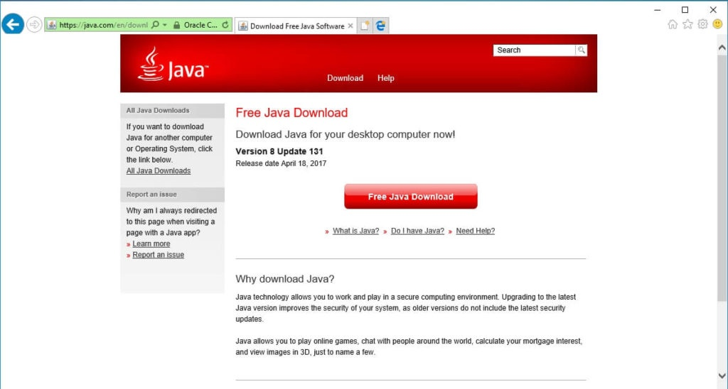 Internet Explorer Java