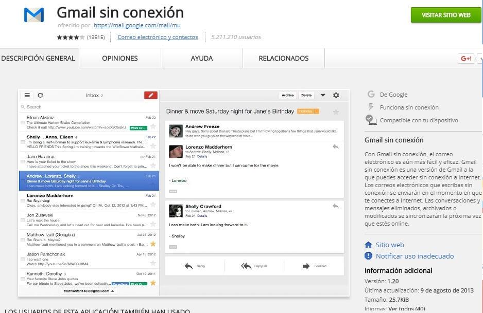 Gmail escritorio