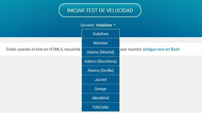test velocidad wifi vodafone
