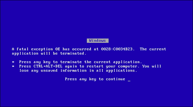 windows 95 bsod