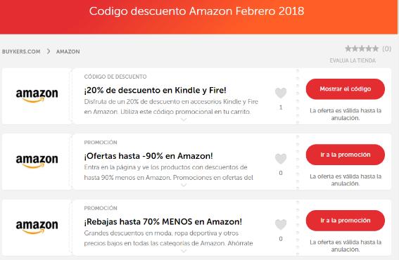 Amazon descuentos