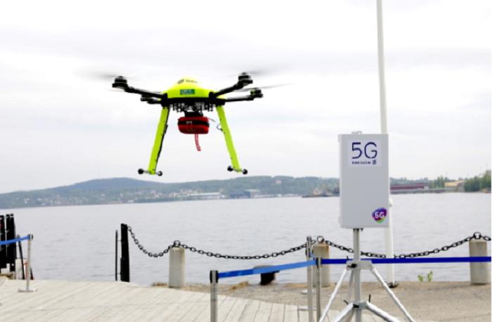 dron 5g suecia