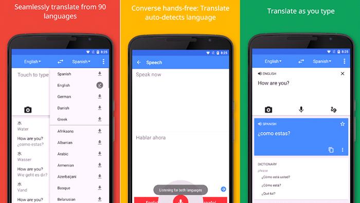 google translate pantalla