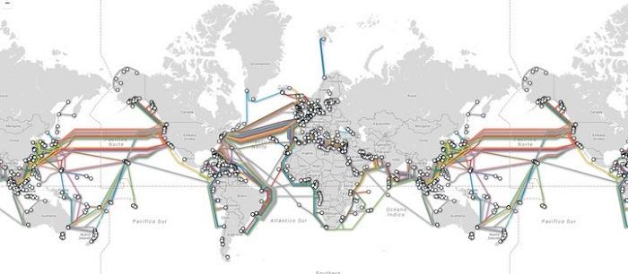 mapa cables internet