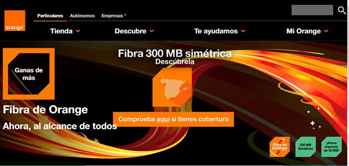 fibra óptica orange