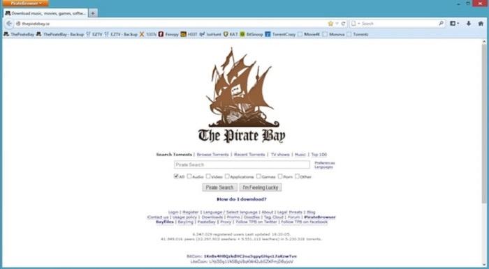 pirate navegador