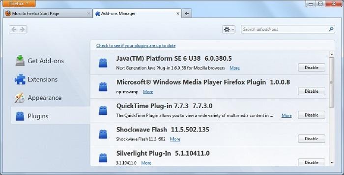 acelerar firefox plugins