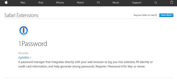 1password Extension Chrome