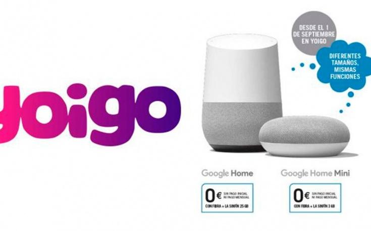 Google Home, móviles, Líneas DUO o SKY TV gratis con la fibra y móvil de Yoigo
