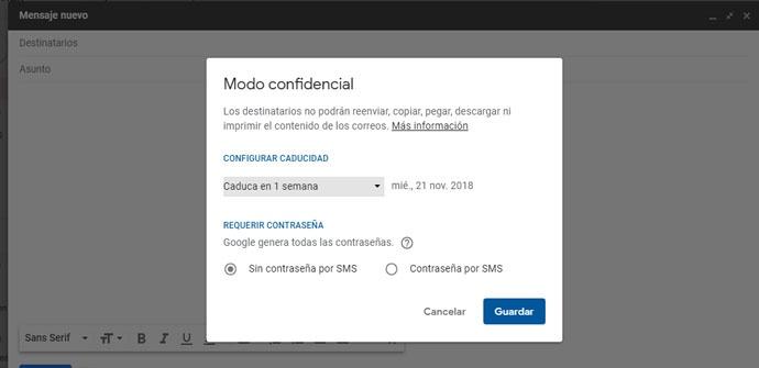 Configurar el Modo confidencial de Gmail