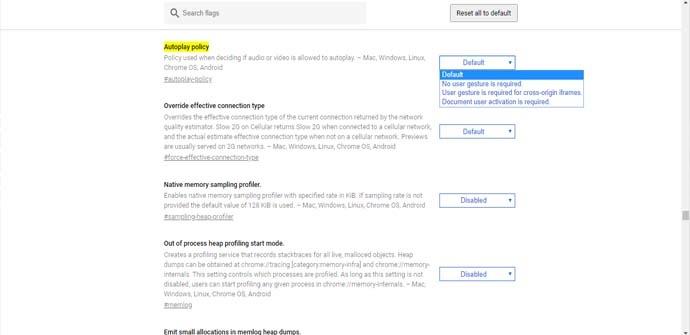 Cómo desactivar la reproducción automática de vídeos en Chrome