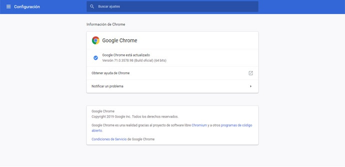 Actualizar Google Chrome con seguridad