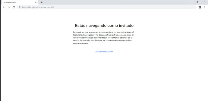 Modo de invitados de Google Chrome