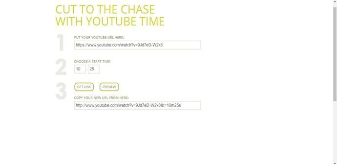 Compartir un vídeo de YouTube en un minuto y segundo concretos