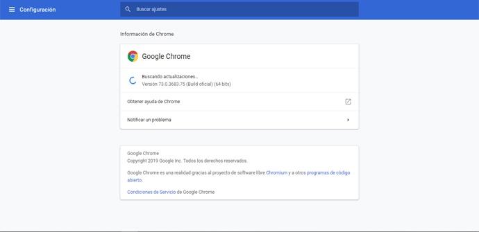 Actualizar a Google Chrome 73