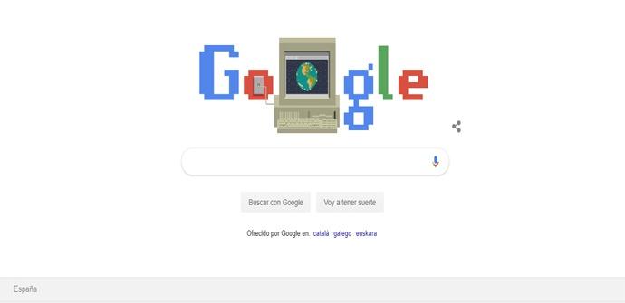 Doodle por el 30 aniversario de Internet