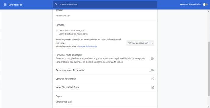 Cómo habilitar extensiones en modo de incógnito en Google Chrome
