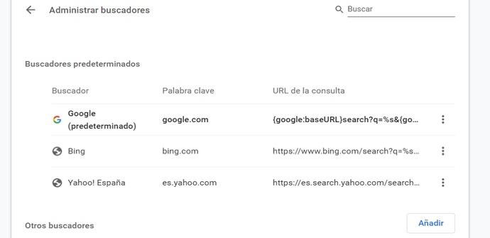 Cambiar buscador en Google Chrome