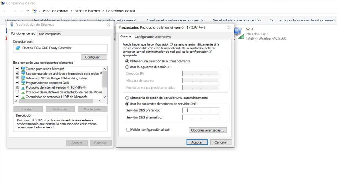 Cómo cambiar las DNS en Windows