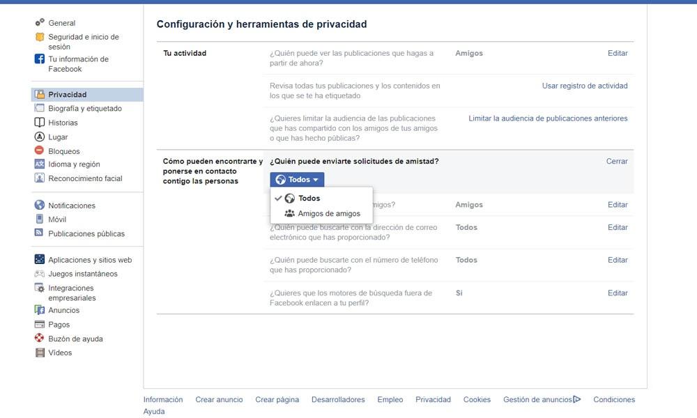 Cómo evitar invitaciones de bots en Facebook