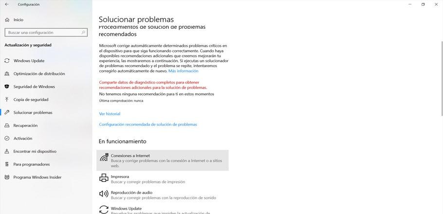 Solucionar problemas del Wi-Fi en Windows 10