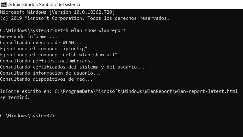 Crear un reporte de red en Windows