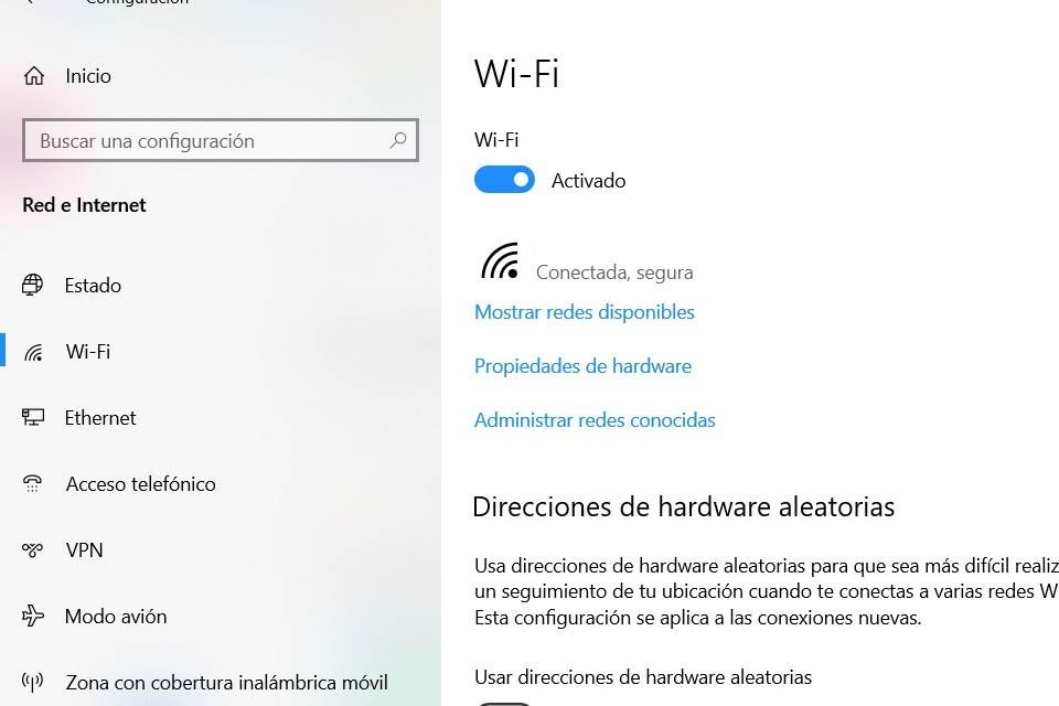 Ver la potencia del wi-Fi